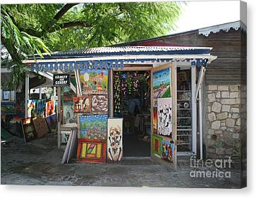 Canvas Print featuring the photograph Haitian Art Shack by The Art of Alice Terrill