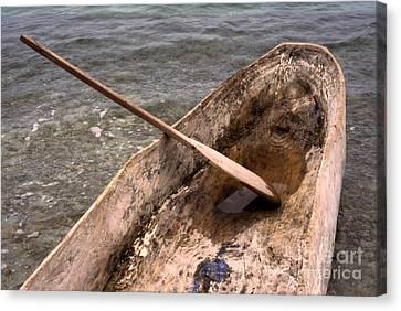 Haitian Dugout Canoe Canvas Print by Anna Lisa Yoder