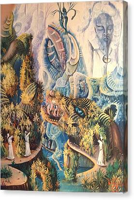 Haitian Mystical Mandscape Canvas Print by Dimanche