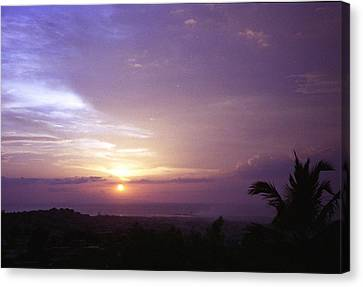 Haitian Sunset Canvas Print by Marianne Miles