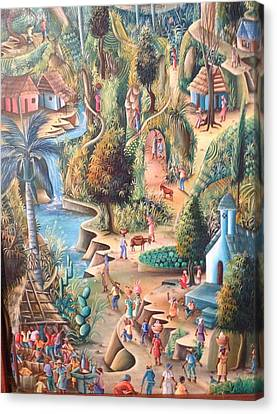Haitian Village Canvas Print by Dimanche from Haiti
