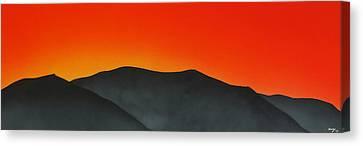Hakarimata Sunset Canvas Print