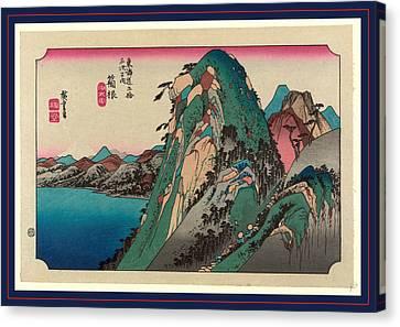 Hakone, Ando Between 1833 And 1836, Printed Later Canvas Print