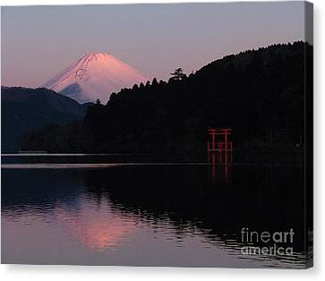 Hakone Waters Fuji  Canvas Print by John Swartz