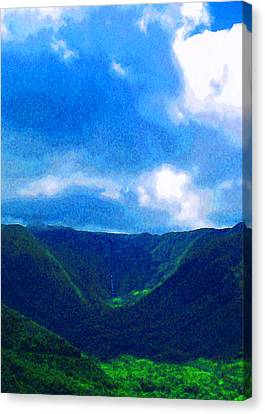 Halawa Valley Canvas Print by James Temple