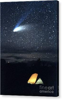 Hale-bopp Comet Canvas Print