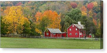 Hale Farm And Village Canvas Print by Daniel Behm