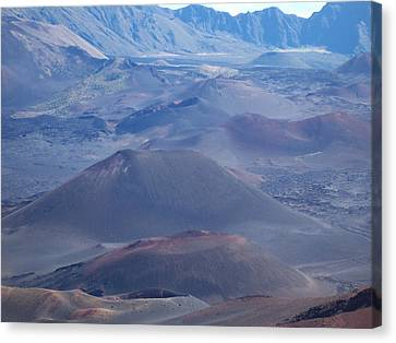 Canvas Print featuring the photograph Haleakala Crater by Sheila Byers