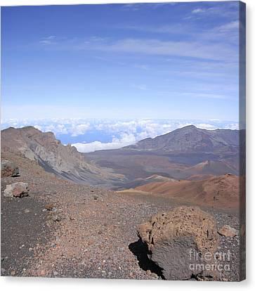 Rimrock Canvas Print - Haleakala  Summit Maui Hawaii  by Sharon Mau