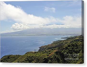 Haleakala Volcano And Coastline Canvas Print by Sami Sarkis