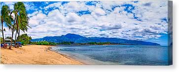 Haleiwa Beach Canvas Print