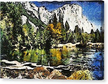 Half Dome At Yosemite Abstract Canvas Print