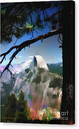Half Dome Canvas Print by Barbara D Richards