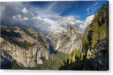 Half Dome From Four Mile Canvas Print by Chris Martin