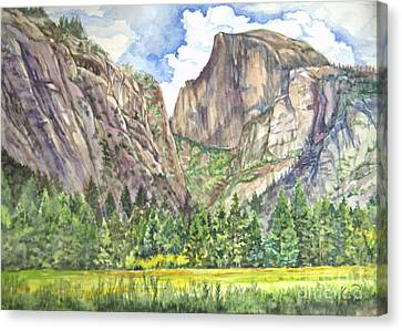 Half Dome In Spring Canvas Print by Heewon Kim