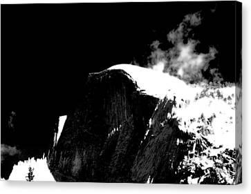 Half Dome In Winter Bw Canvas Print