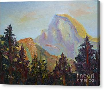 Half Dome View Canvas Print by Carolyn Jarvis
