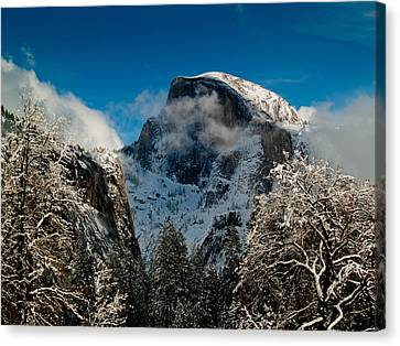 Yosemite Valley Canvas Print - Half Dome Winter by Bill Gallagher