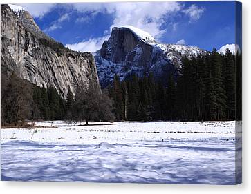 Half Dome Winter Snow Canvas Print