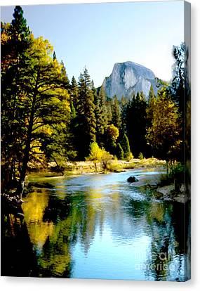 Half Dome Yosemite River Valley Canvas Print