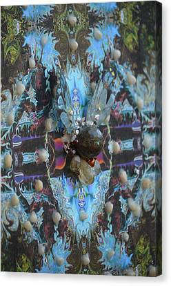 Half Lord Of The Fishes Grid Canvas Print by Deprise Brescia