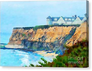Foggy Day Digital Art Canvas Print - Half Moon Bay 2 by Betty LaRue