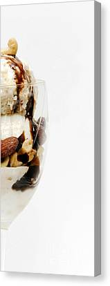 Half The Calories Half The Fat Right Side Canvas Print