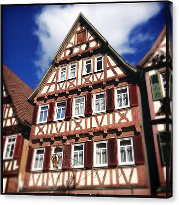 Half-timbered House 10 Canvas Print by Matthias Hauser