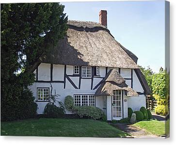 Half-timbered Thatched Cottage Canvas Print by Jayne Wilson