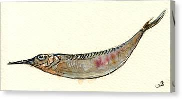 Ballyhoo Canvas Print - Halfbeak Fish by Juan  Bosco
