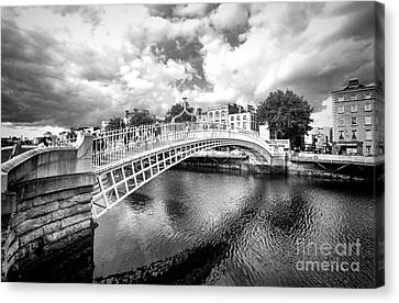 Halfpenny Bridge Canvas Print - Halfpenny Bridge by Jim Orr