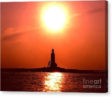 Halfway Rock Lighthouse Canvas Print