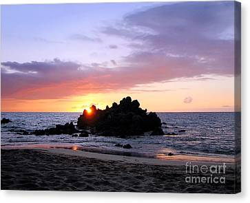 Canvas Print featuring the photograph Hali A Aloha by Ellen Cotton