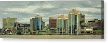 Halifax From The Harbour Canvas Print by Jeff Kolker