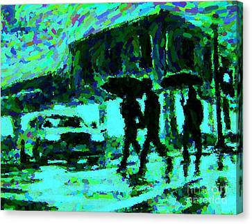 Halifax On A Rainy Night Canvas Print
