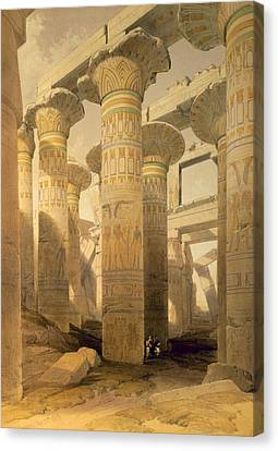 Hall Of Columns, Karnak, From Egypt Canvas Print by David Roberts