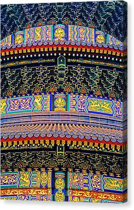 Hall Of Prayer Detail Canvas Print