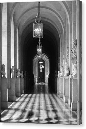 Canvas Print featuring the photograph Hall Of Sculpture by Meaghan Troup