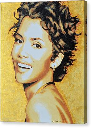 Halle Berry Canvas Print by Victor Minca