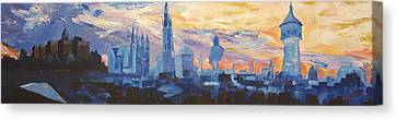 Halle Saale Germany Skyline Canvas Print by M Bleichner