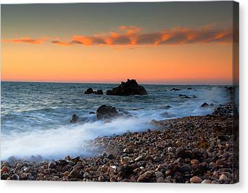 Hallett Cove Sunrise Canvas Print by Jessy Willemse