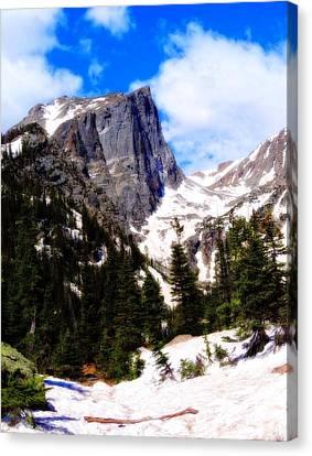 Hallett Peak Rocky Mountain National Park Canvas Print by Dan Sproul
