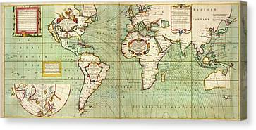 Halley's Global Magnetic Chart Canvas Print