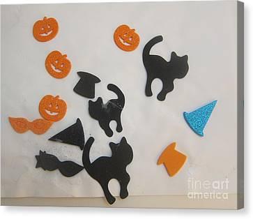 Halloween Artwork Canvas Print - Halloween 1 by Iyanuoluwa Adeshina