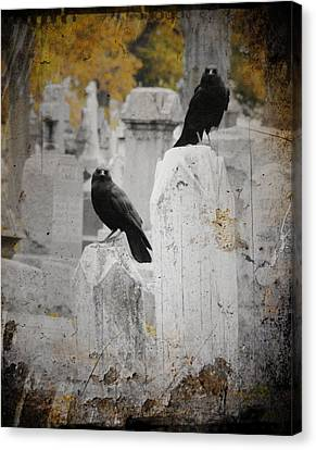 Halloween Is In The Autumn Air Canvas Print by Gothicrow Images