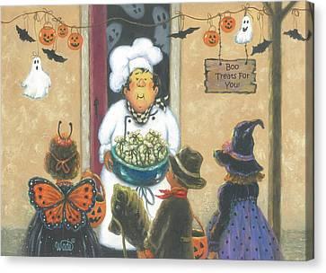 Halloween Chef Canvas Print
