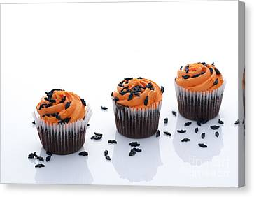 Bakery Canvas Print - Halloween Cupcakes by Juli Scalzi