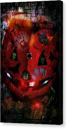 Halloween Canvas Print by Denisse Del Mar Guevara