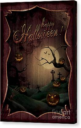 Halloween Design - Pumpkins Theatre Canvas Print