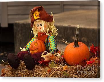 Halloween Doll Canvas Print by Iris Richardson